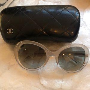 Chanel lucite two-tone sunglasses
